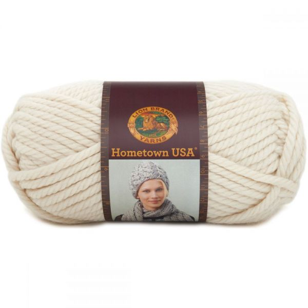 Lion Brand Hometown USA Yarn - Houston Cream