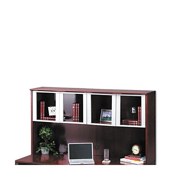 Tiffany Industries Corsica Hutch with Glass Doors, 72w x 15d x 39h, Mahogany