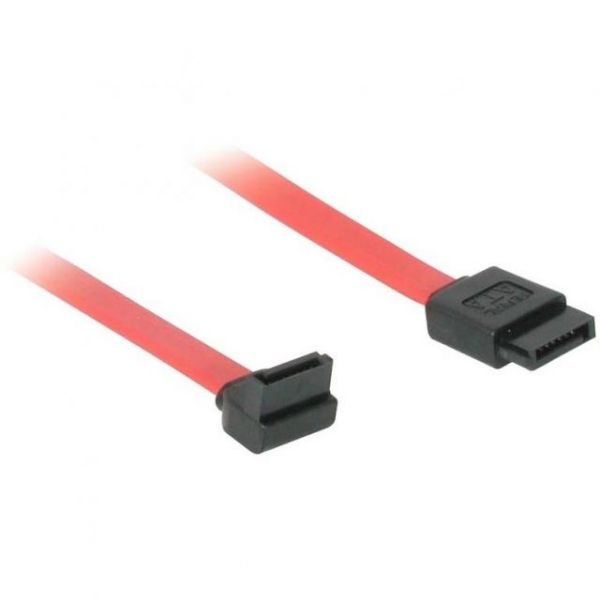 C2G 12in 7-pin 180° to 90° 1-Device Serial ATA Cable