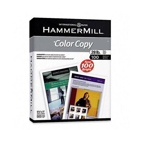 Hammermill Copy Paper, 100 Brightness, 28lb, 8 1/2 x 11, Photo White, 500/Ream