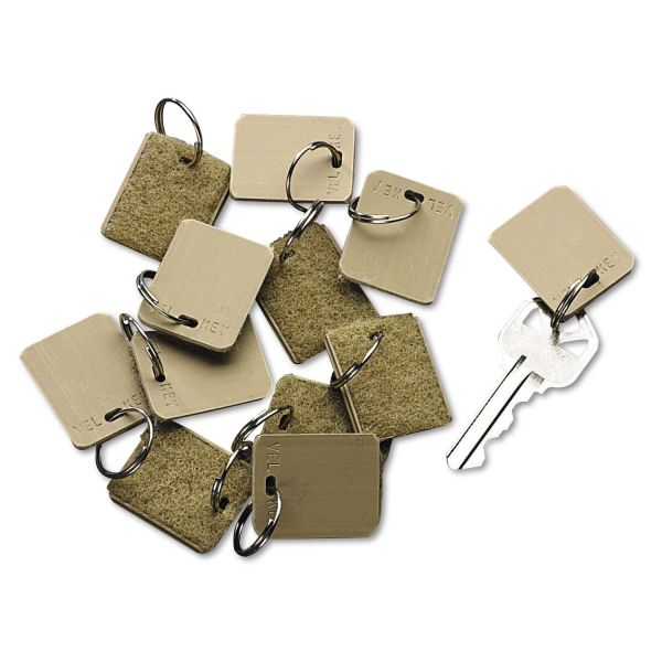 SecurIT Extra Blank Hook & Loop Tags, Security-Backed, 1 1/8 x 1, Beige, 12/Pack