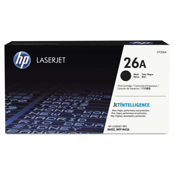 HP 26A, (CF226A) Black Original LaserJet Toner Cartridge