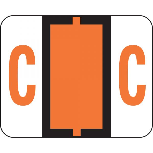 Smead BCCR Bar-Style Color-Coded Alphabetic Label - C
