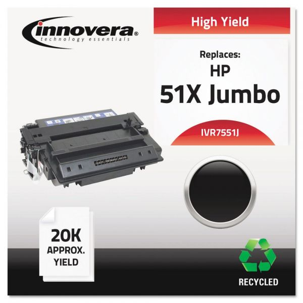 Innovera Remanufactured Q7551X(J) (51XJ) Extra High-Yield Toner, Black