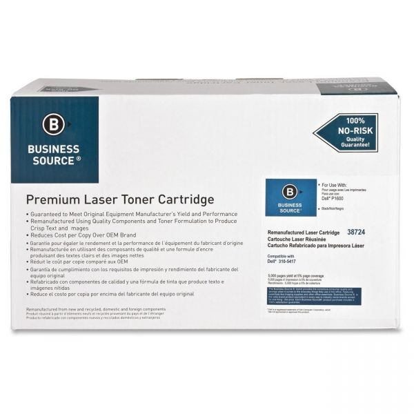 Business Source Remanufactured Dell 310-5417 Black Toner Cartridge
