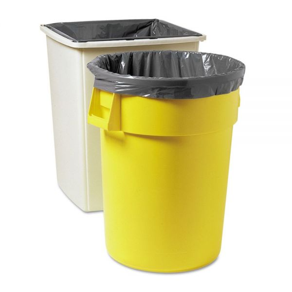 Rubbermaid Commercial Linear Low Density Can Liners, 50gal, 2mil, 37w x 44h, Gray, 200/Carton