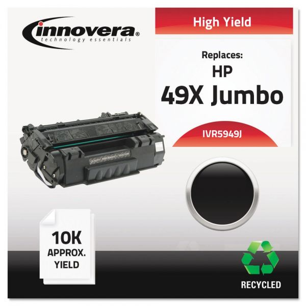 Innovera Remanufactured Q5949X(J) (49XJ) High-Yield Toner, Black