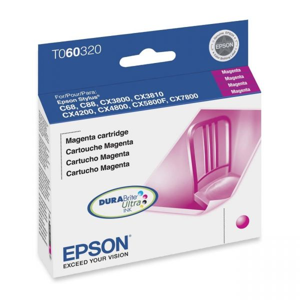 Epson T0603 Magenta Ink Cartridge