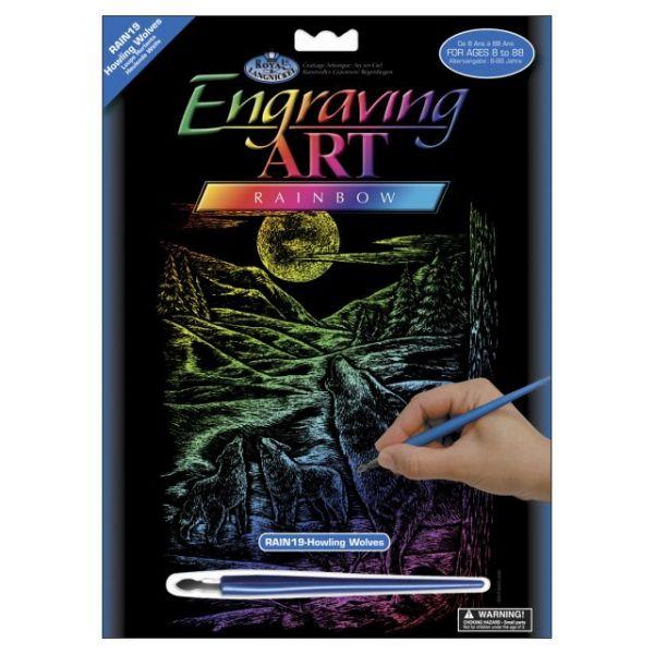 Rainbow Foil Engraving Art Kit