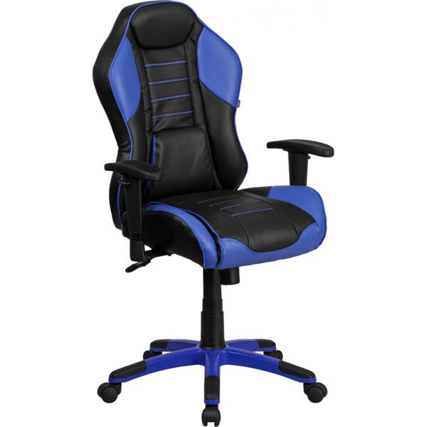Flash Furniture High Back Vinyl Executive Swivel Office Chair with Inner-Coil Spring Comfort Seat