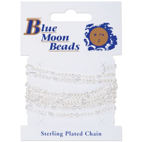 Blue Moon Figaro Chain 42""