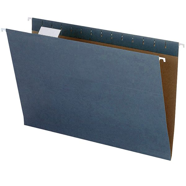 Pendaflex Earthwise by Pendaflex Recycled Hanging File Folder, 1/5 Cut, Ltr,  Blue, 25/BX