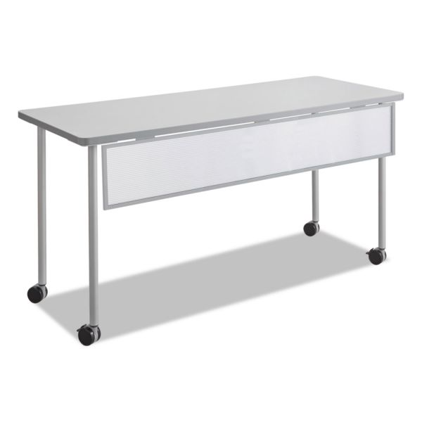 Safco Impromptu Modesty Panel, Polycarbonate/Steel, 54w x 1d x 9h, Silver