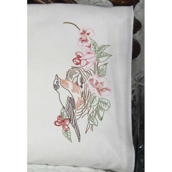"Stamped Perle Edge Pillowcases 30""X20"" 2/Pkg"