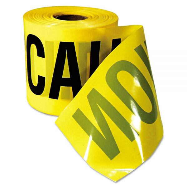 "Empire Safety Barricade Caution Tape, 3"" x 200ft, Yellow w/Black Print"