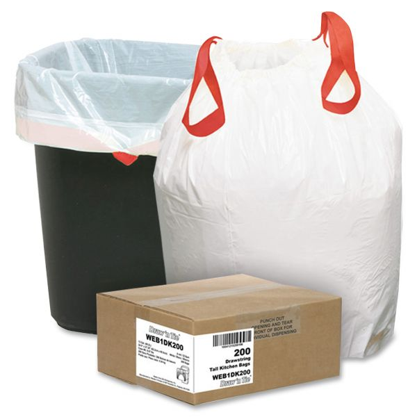 Draw'n Tie Heavy-Duty Drawstring 13 Gallon Trash Bags