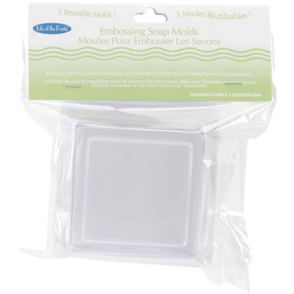 "Soap Embossing Molds 2.5""X2.5"" 3/Pkg"
