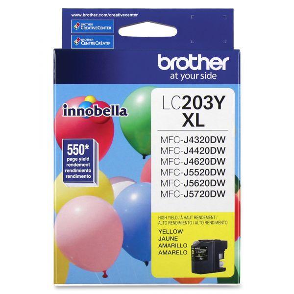 Brother Innobella High-Yield LC203Y XL Yellow Ink Cartridge