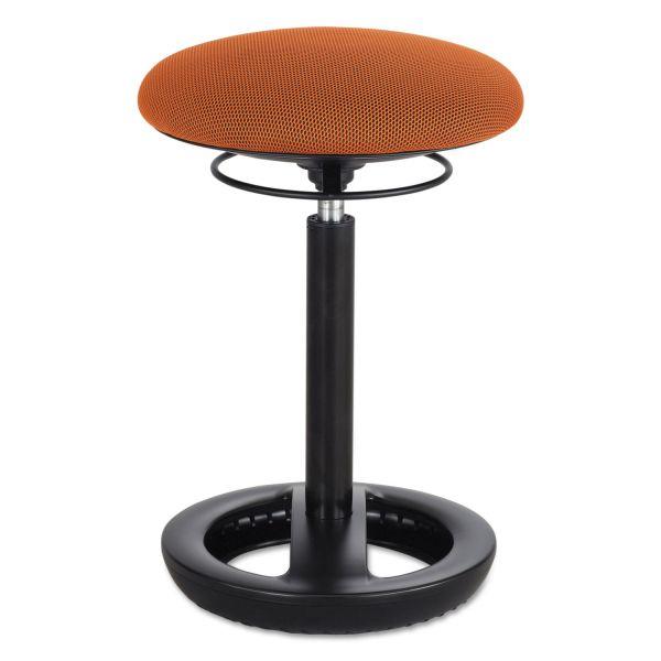 "Safco Twixt Desk Height Ergonomic Stool, 22 1/2"" High, Orange Fabric"