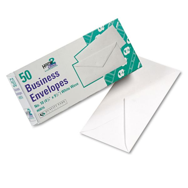 Quality Park White Wove Business Envelopes