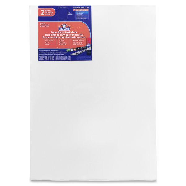 Elmer's White Pre-Cut Foam Board Multi-Packs, 18 x 24, 2/PK