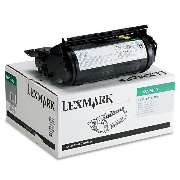 Lexmark 12A7460 Return Program Toner, 5000 Page-Yield, Black