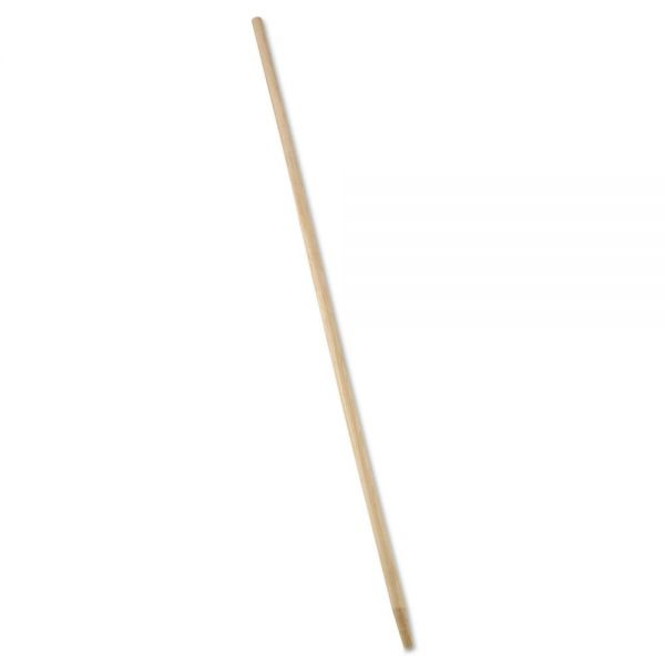 "Rubbermaid Commercial Tapered-Tip Wood Broom/Sweep Handle, 60"", Natural"