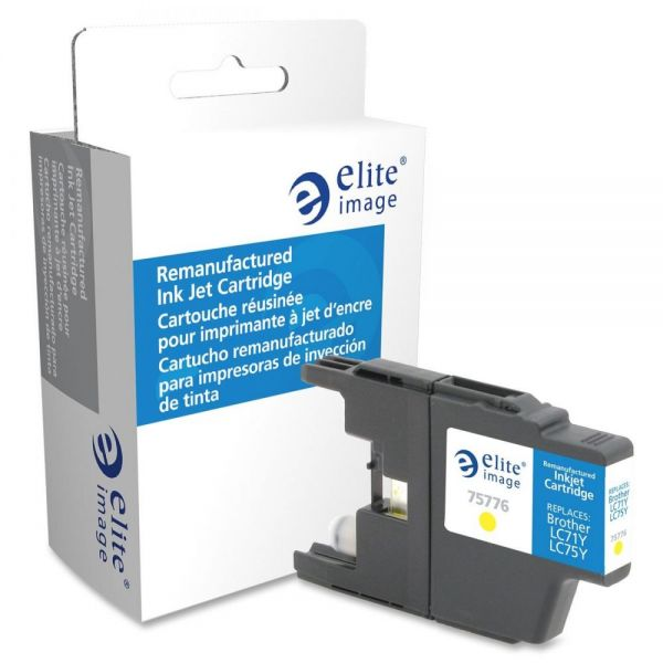 Elite Image Remanufactured Brother LC75Y Ink Cartridge