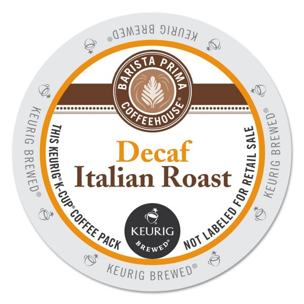 Barista Prima Coffee House Italian Roast Decaf Coffee K-Cups