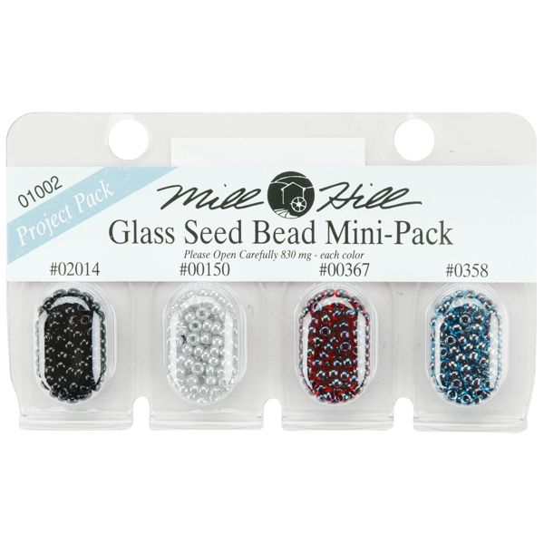 Mill Hill Glass Seed Beads Mini Packs 2.5mm 830mg 4/Pkg