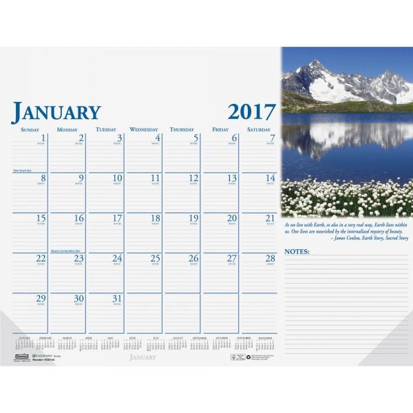 House of Doolittle Earthscapes Compact Monthly Desk Pad Calendar