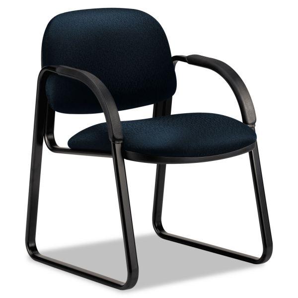 HON Sensible Seating Series Guest Arm Chair, Tectonic Fabric, Mariner