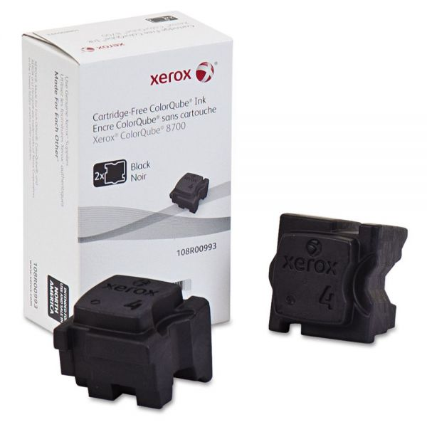 Xerox 108R00993 Ink Sticks, 4500 Page-Yield, Black, 2/Box