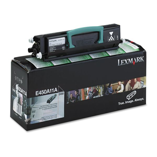 Lexmark E450A11A Black Return Program Toner Cartridge