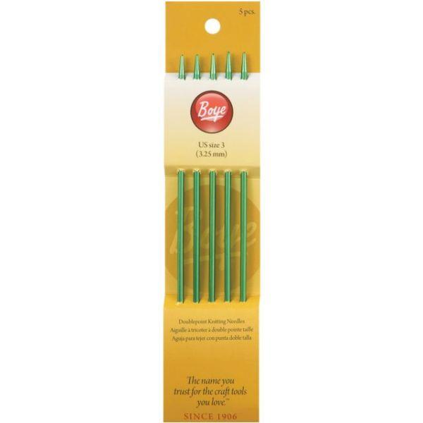 "Double Point Aluminum Knitting Needles 7"""