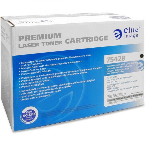 Elite Image Remanufactured HP 51X (Q7551X) High Yield MICR Toner Cartridge