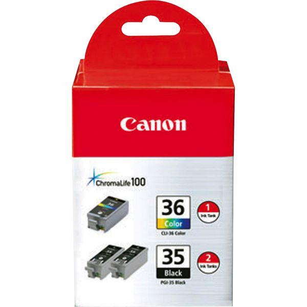 Canon PGI-35 Black/CLI-36 Color Combo Pack Ink Cartridges