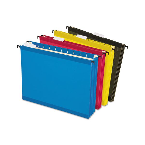 Pendaflex Hanging Pocket Files, 3 1/2 Inch Expansion, Letter, Assorted, 4 per pack