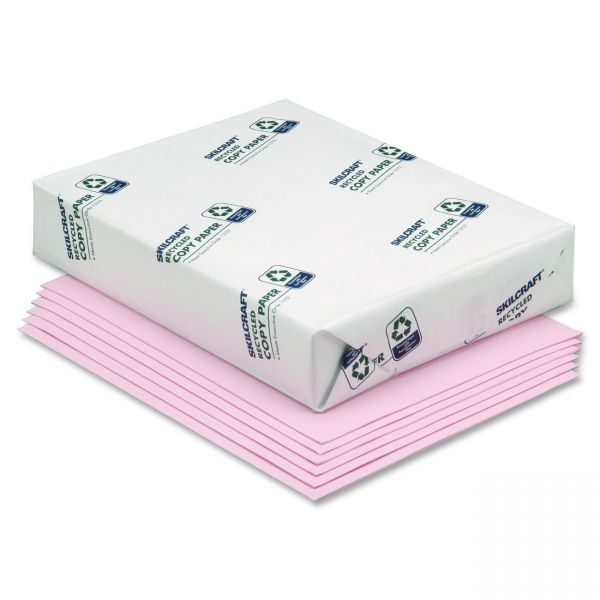 SKILCRAFT Recycled Colored Paper - Pink