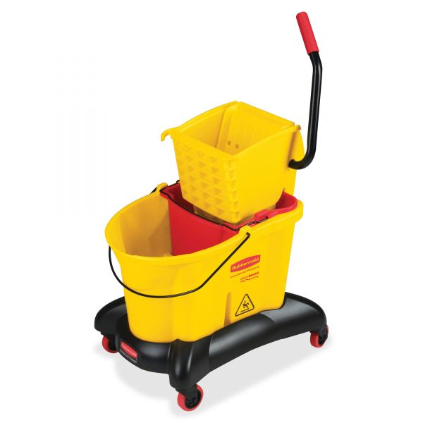 Rubbermaid Wavebrake Dual Water Side Press Mop Bucket & Wringer