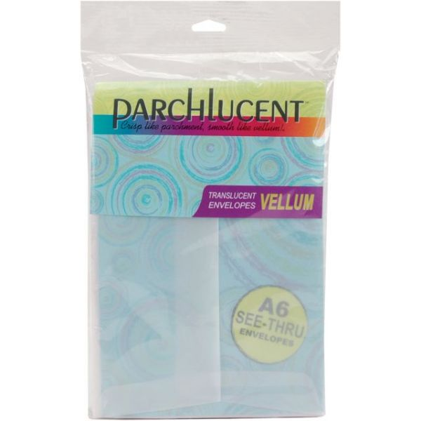 "Leader A6 Parchlucent Vellum Envelopes (4.75""X6.5"") 25/Pkg"