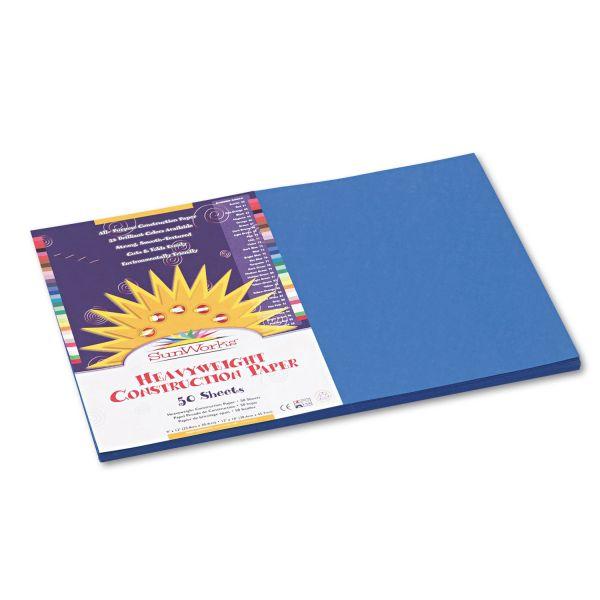 SunWorks Heavyweight Blue Construction Paper