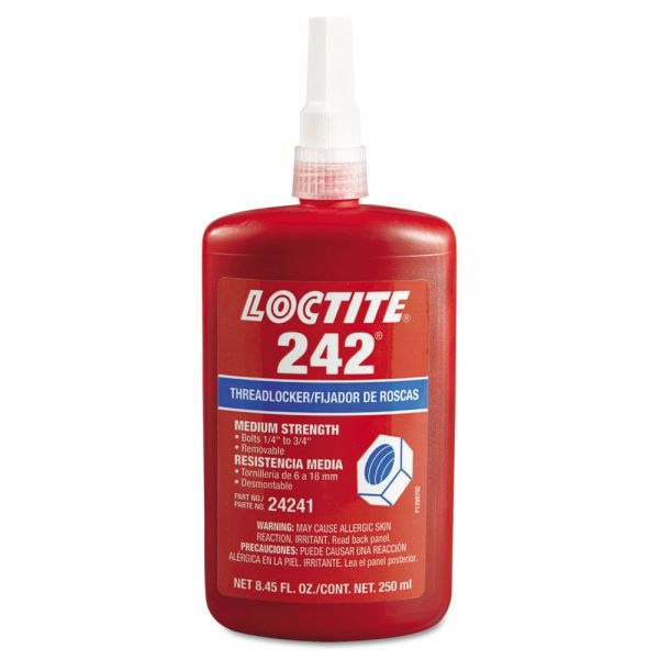 Loctite 242 Medium-Strength Threadlocker, 250 mL, Blue
