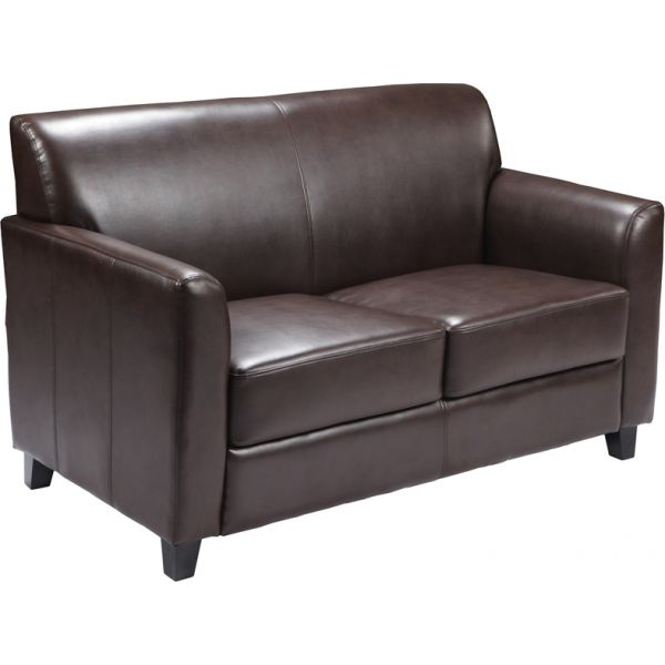 Flash Furniture HERCULES Diplomat Series Brown Leather Loveseat
