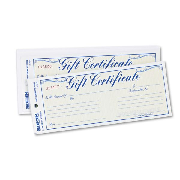 Rediform Gift Certificates w/ Envelopes