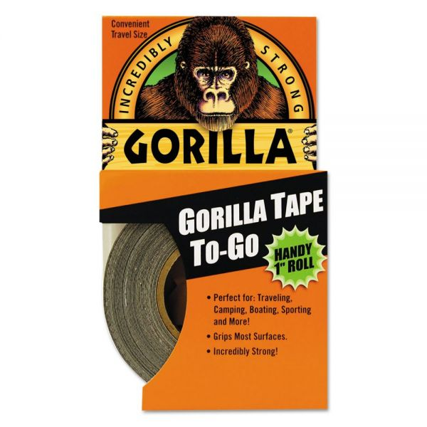 "Gorilla Glue Gorilla Tape, Extra-Thick, All-Weather Duct Tape, 1"" x 10yds, 1 1/2"" Core, Black"