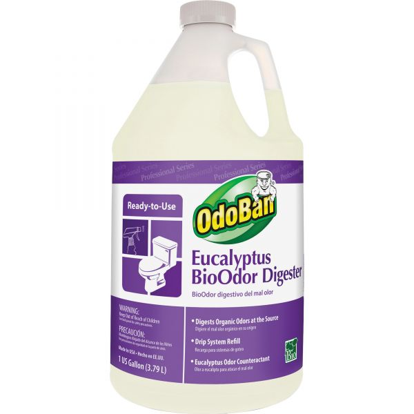 OdoBan BioOdor Digester, Eucalyptus Scent, 1 gal Bottle, 4/Carton