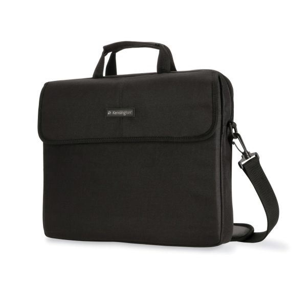 "Kensington 15.6"" Laptop Sleeve, Padded Interior, Inside/Outside Pockets, Black"
