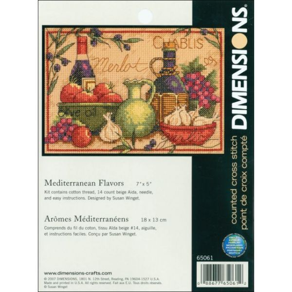 Dimensions Mediterranean Flavors Mini Counted Cross Stitch Kit