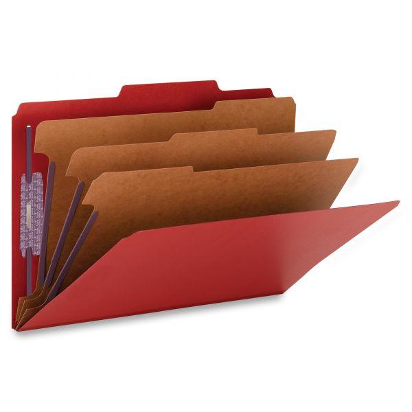 Smead 3-Divider Pressboard Classification Folders with SafeSHIELD Fasteners